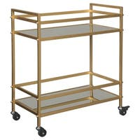 Signature Design by Ashley Kailman Bar Cart in Metallic Gold