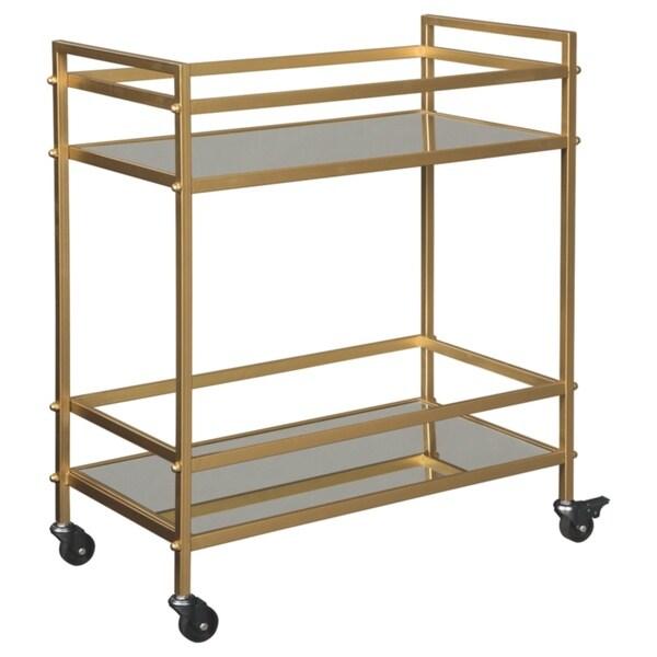 Kailman Bar Cart in Metallic Gold