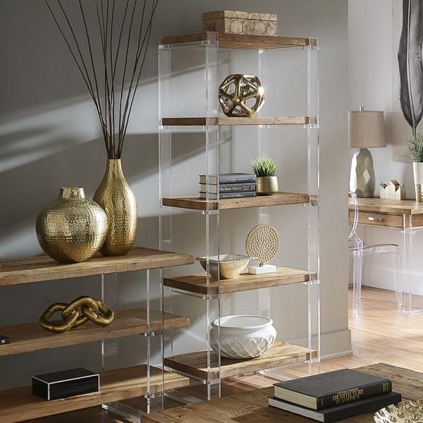 Annika Reclaimed Wood and Acrylic Bookshelf by iNSPIRE Q Artisan