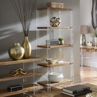 Annika Reclaimed Wood and Acrylic Bookshelf by iNSPIRE Q Artisan
