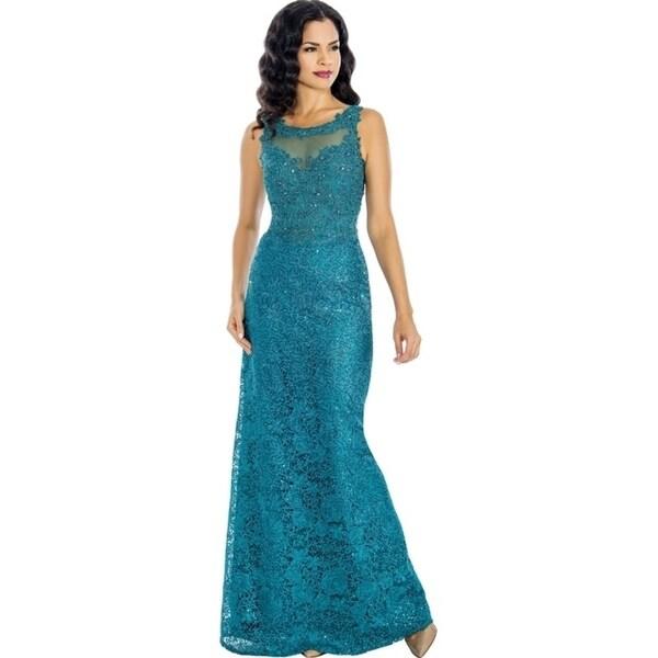 7f0d4c8af32 Shop Annabelle Women s Elegant Mother of the Bride Long Dress - Free ...