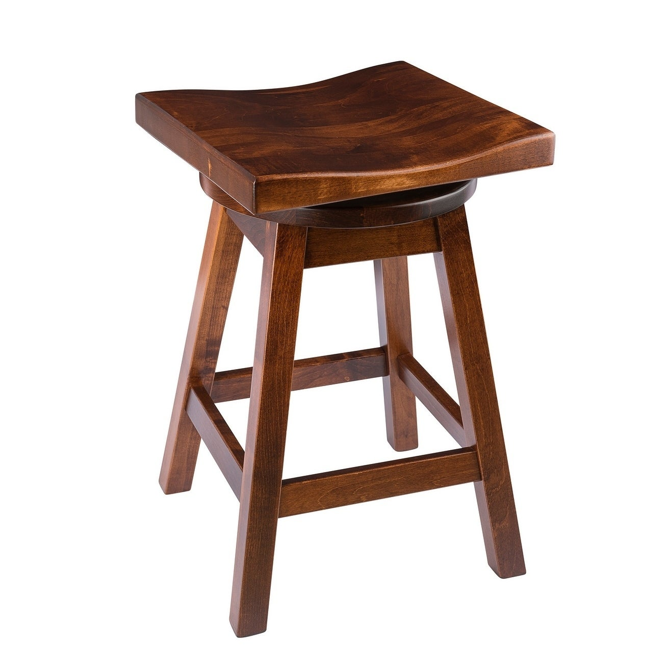 Pleasing Saddle Style Swivel Bar Stool In Maple Wood Caraccident5 Cool Chair Designs And Ideas Caraccident5Info