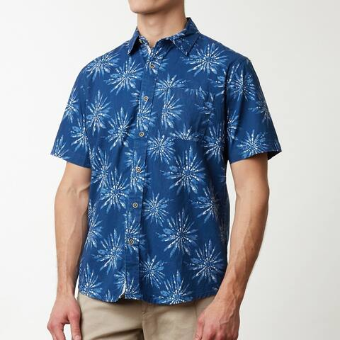 Fireworks Pattern Men's Short Sleeve Shirt