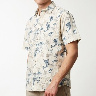 Bait and Tackle Pattern Men's Short Sleeve Shirt