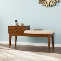 Harper Blvd Morgenstern Midcentury Modern Upholstered Storage Bench