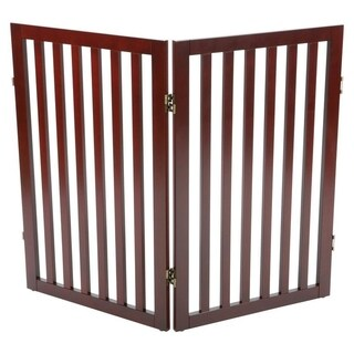 Wooden 2-Panel Pet Gate Extension (brown) - brown