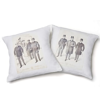 Link to Cottage Home Dapper Gentelman's Cotton 24 Inch Throw Pillow Set of 2 Similar Items in Decorative Accessories