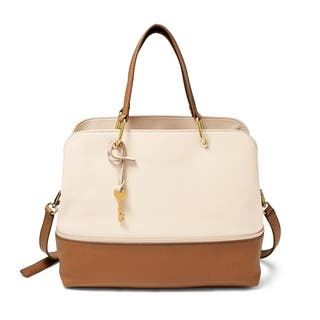 Fossil Lane Two Tone Handbagivory