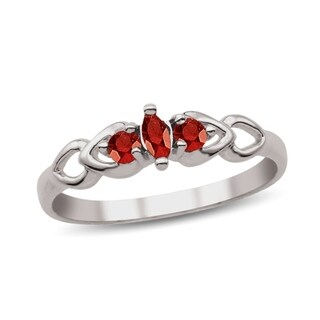 Sterling Silver Genuine Birthstone Ring