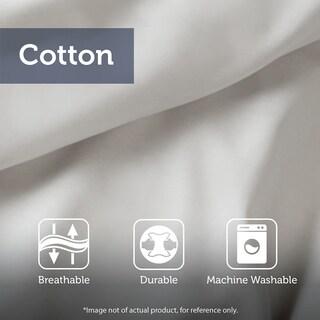 Madison Park Nollie White 3 Piece Tufted Cotton Chenille Geometric Duvet Cover Set