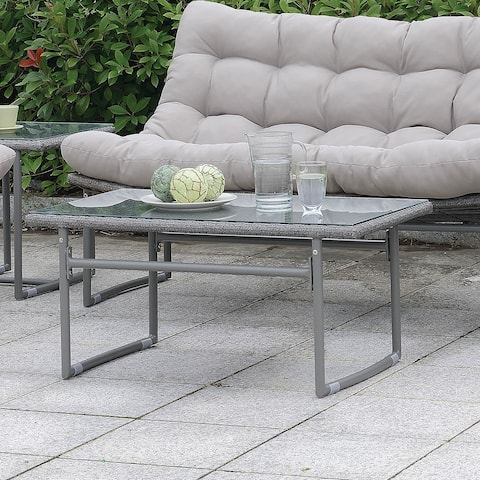 Furniture of America Anya Contemporary Patio Coffee Table