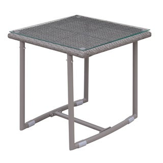 Furniture of America Anya Contemporary Weather Resistant Patio End Table