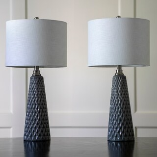 Set of Two Jameson Textured Ceramic Table Lamps