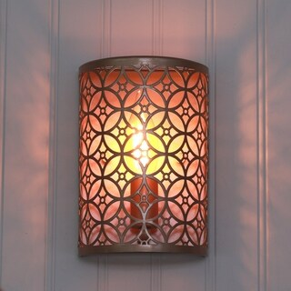 Eclectic lighting Living Room Lucas Laser Cut Wall Sconce Overstock Buy Bohemian Eclectic Wall Lights Online At Overstockcom Our