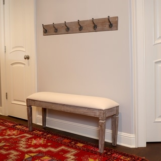 Waverly Wood Bench with Coat Rack Set