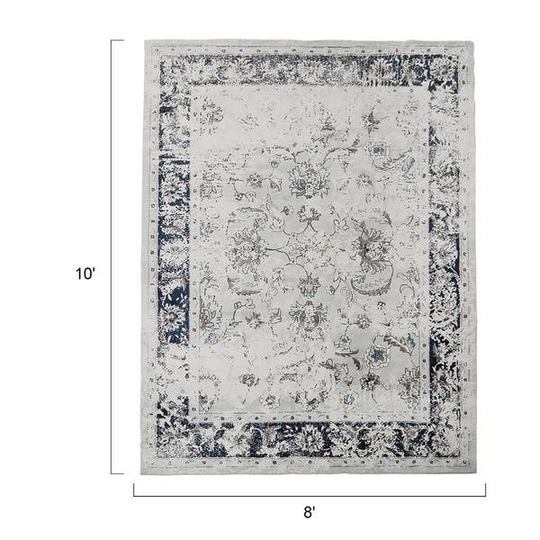 Lnc Polyester Rugs Traditional Vintage Distressed Area
