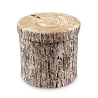 Ikee Design Tree Stump Pattern Polyester Folding Storage Ottoman