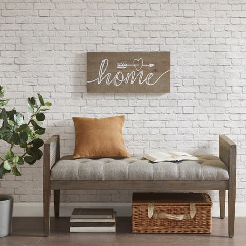 Madison Park Rustic Home Natural Print On Real Wood Plank