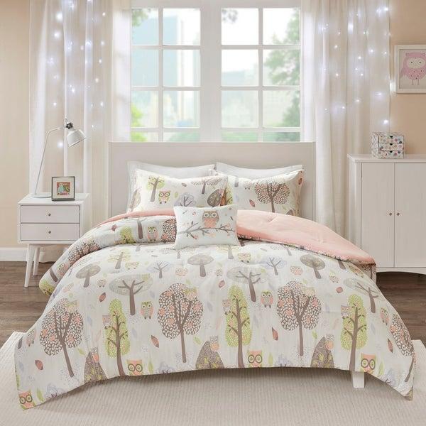 Urban Habitat Kids Kyrie Purple/ Pink Cotton Printed Comforter Set