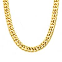 Divina Polished gold plated Stainless Steel curb chain 24 Inch.