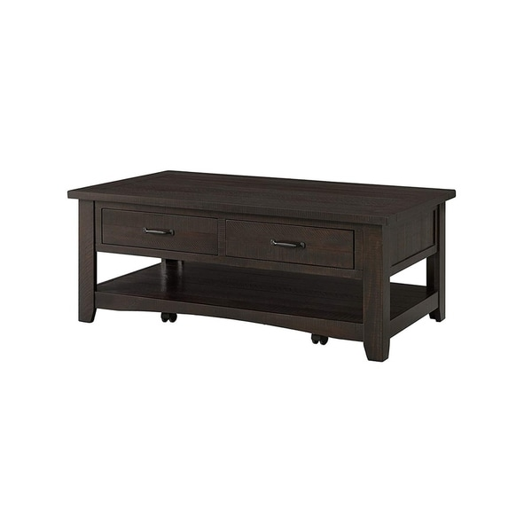 Coffee Table With Drawers Sale: Shop Wooden Coffee Table With Two Drawers, Espresso Brown