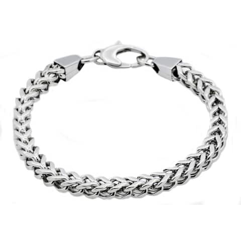 Divina Polished Stainless Steel Franco link Bracelet 8.50 Inch