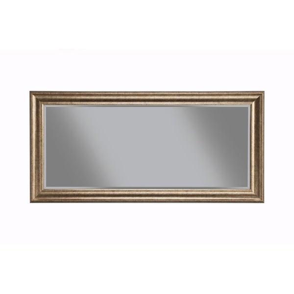 Full Length Leaner Mirror With a Rectangular Polystyrene Frame, Antique Gold
