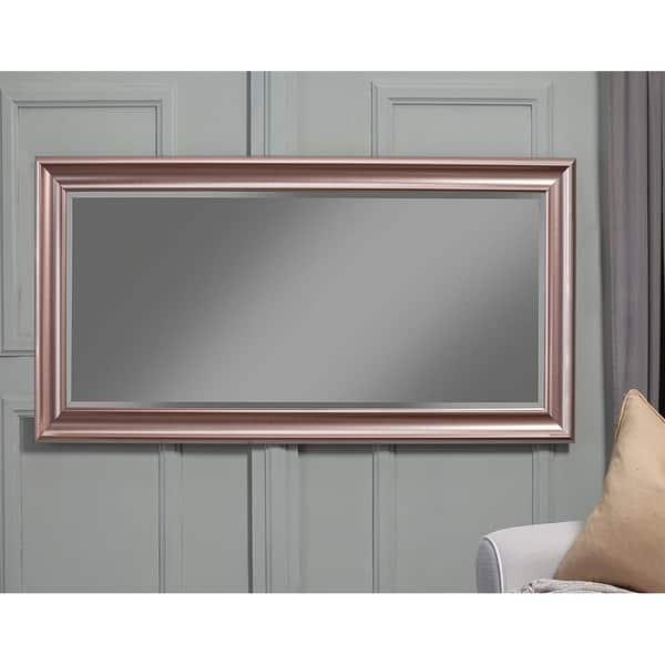 Shop Full Length Leaner Mirror With A Rectangular Polystyrene Frame Rose Gold Overstock 22671860