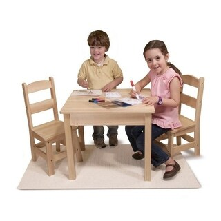 Simple Living Children Kid' Wood 5-piece Table and Chairs Set