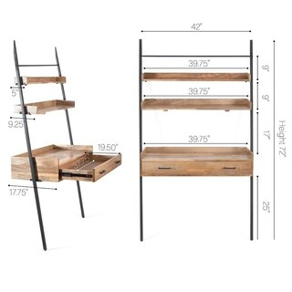 Champier Ladder Desk with Shelf
