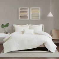 Urban Habitat Ellie Ivory Cotton Chenille Jacquard Comforter Set