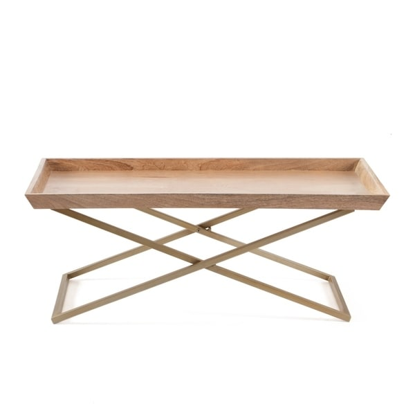 Coffee Table Tray Home Goods: Shop Eloise Cross Leg Coffee Table With Tray Top