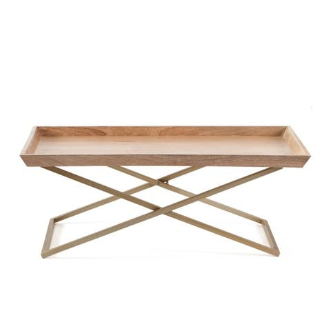 Eloise Cross Leg Coffee Table with Tray Top