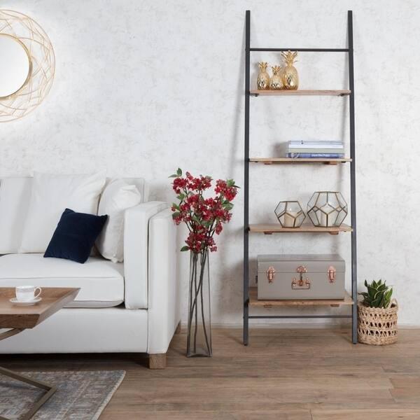 Shop Claret Ladder Bookcase Shelf Small - Free Shipping ...
