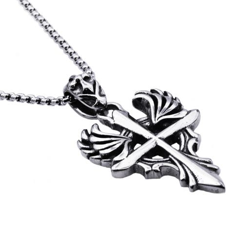 Divina Stainless Steel Men's Cross Pendant.