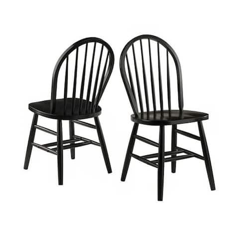Windsor Chair 2-PC Set RTA Black