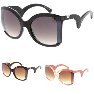 """MLC Heritage Modern """"Curly Fries"""" Thick Frame Sunglasses"""