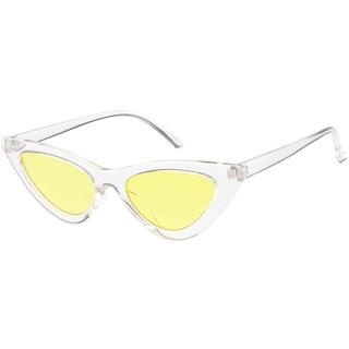 "MLC Urban Modern ""No way"" 90s Narrow Frame Flat Lens Cat Eye Sunglasses"