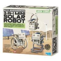 4M Green Science Eco-Engineering 3-In-1 Mini Solar Robot Kit