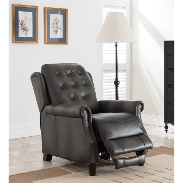 Fabulous Shop Torro Grey Premium Hand Rubbed Top Grain Tufted Leather Bralicious Painted Fabric Chair Ideas Braliciousco