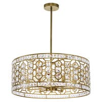Champagne-finished Stainless Steel 6-light Chandelier