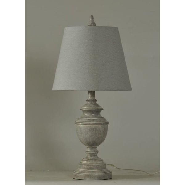 Shop Stylecraft Weathered Grey Table Lamp With Shade Free Shipping