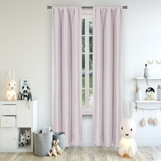 Link to Lala+Bash Solid Textured Room Darkening Curtain Panel Pair Similar Items in Curtains & Drapes
