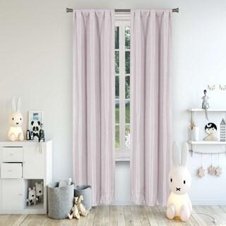 Lala+Bash Solid Textured Room Darkening Curtain Panel Pair