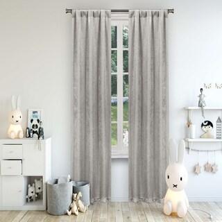 "Lala+Bash Solid Metallic Polka Dots Room Darkening Curtain Panel Pair - 38x84"""