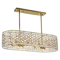 Champagne-finish Stainless Steel 8-light Chandelier