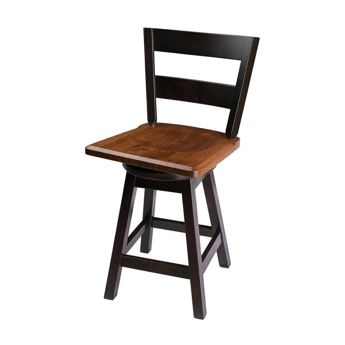 Pleasing Swivel Bar Stool With Straight Back In Quarter Sawn Oak Wood Lamtechconsult Wood Chair Design Ideas Lamtechconsultcom