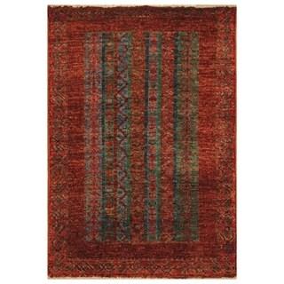 Handmade Herat Oriental Afghan Hand-knotted Kazak Vegetable Dye Wool Rug (2' x 3') - 2' X 3'
