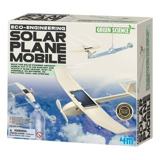 4M Green Science Eco-Engineering Solar Plane Mobile Kit