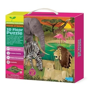 4M Friends of Nature 3D Safari Animals Floor Puzzle (54 Piece)